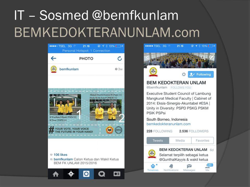 IT – Sosmed @bemfkunlam BEMKEDOKTERANUNLAM.com