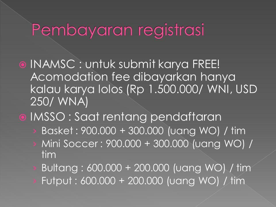  INAMSC : untuk submit karya FREE.