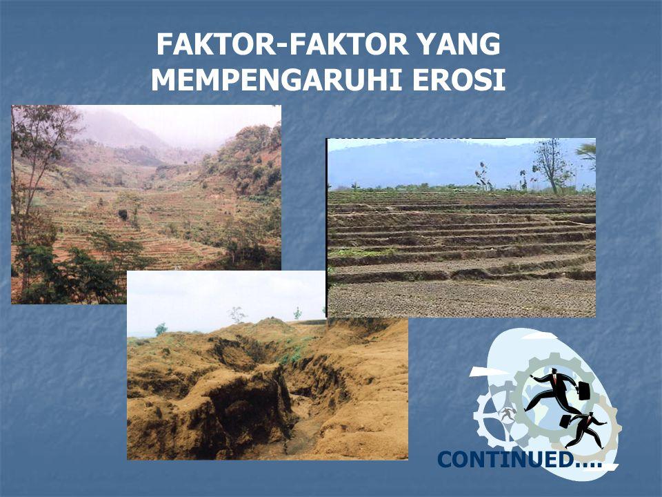 FAKTOR-FAKTOR YANG MEMPENGARUHI EROSI CONTINUED….