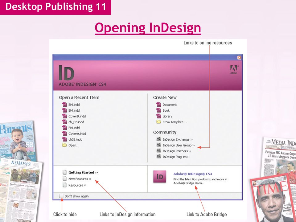 Desktop Publishing 11 Opening InDesign