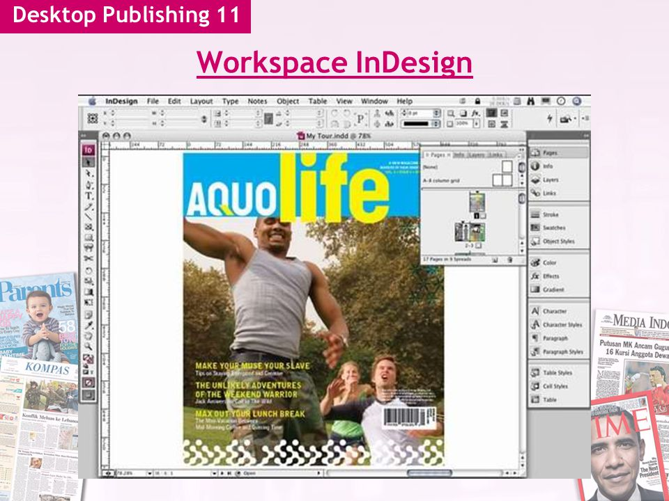 Desktop Publishing 11 Workspace InDesign