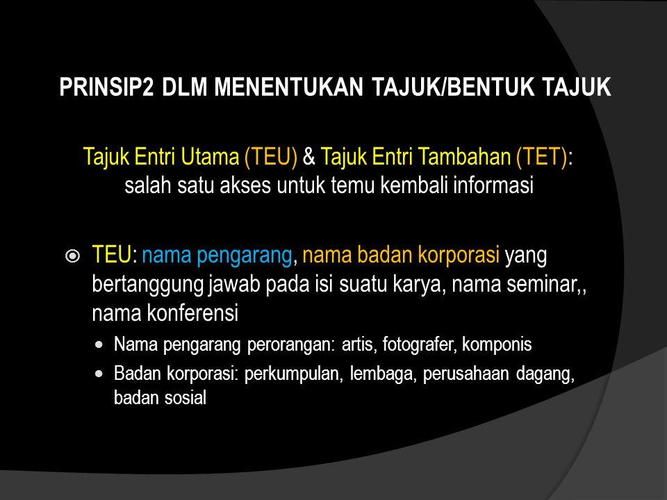 TAJUK BADAN KORPORASI  Badan Korporasi Institut Teknologi Bandung  Badan Pemerintah INDONESIA.
