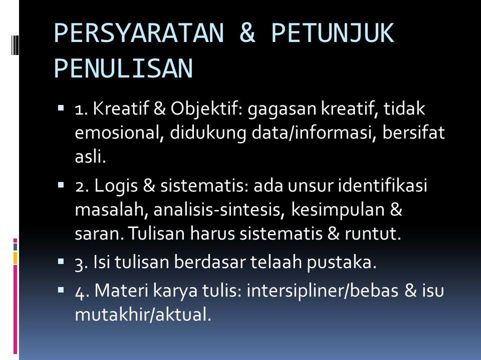 PROGRAM KREATIVITAS MAHASISWA-GAGASAN TERTULIS (PKM-GT)