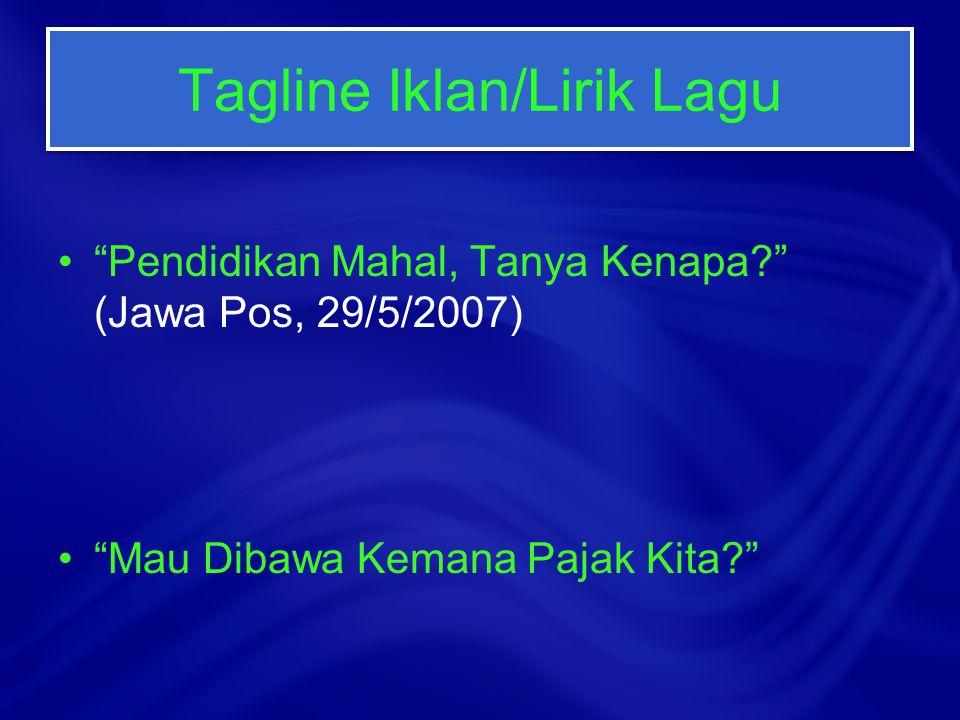 Plesetan dari Istilah Ponari Sweat (Harwanto Dahlan, KR, 20/2/2009) Pemimpin Gempa Gempita (Riswandha Imawan, Jawa Pos, 2/8/2006)
