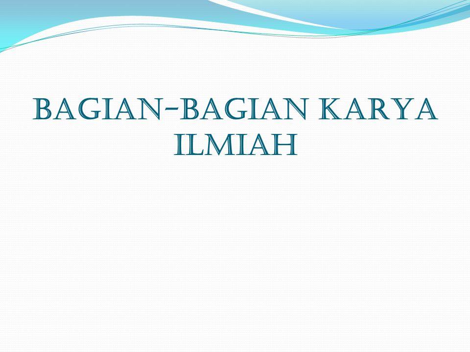 Format Halaman Judul Hal-hal yang perlu diperhatikan dalam pada halaman judul:  Judul diketik dengan huruf kapital.