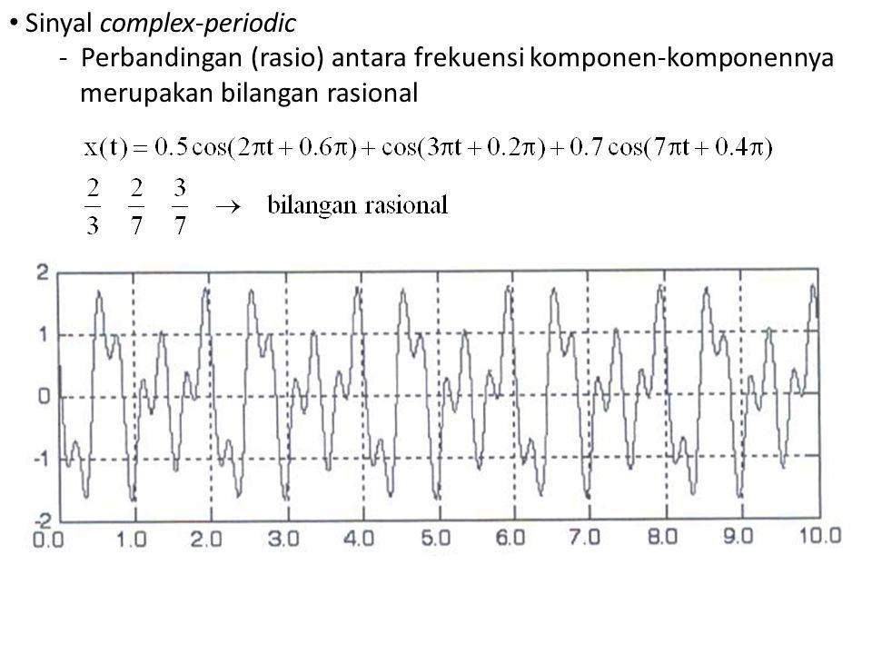 Sinyal complex-periodic - Perbandingan (rasio) antara frekuensi komponen-komponennya merupakan bilangan rasional
