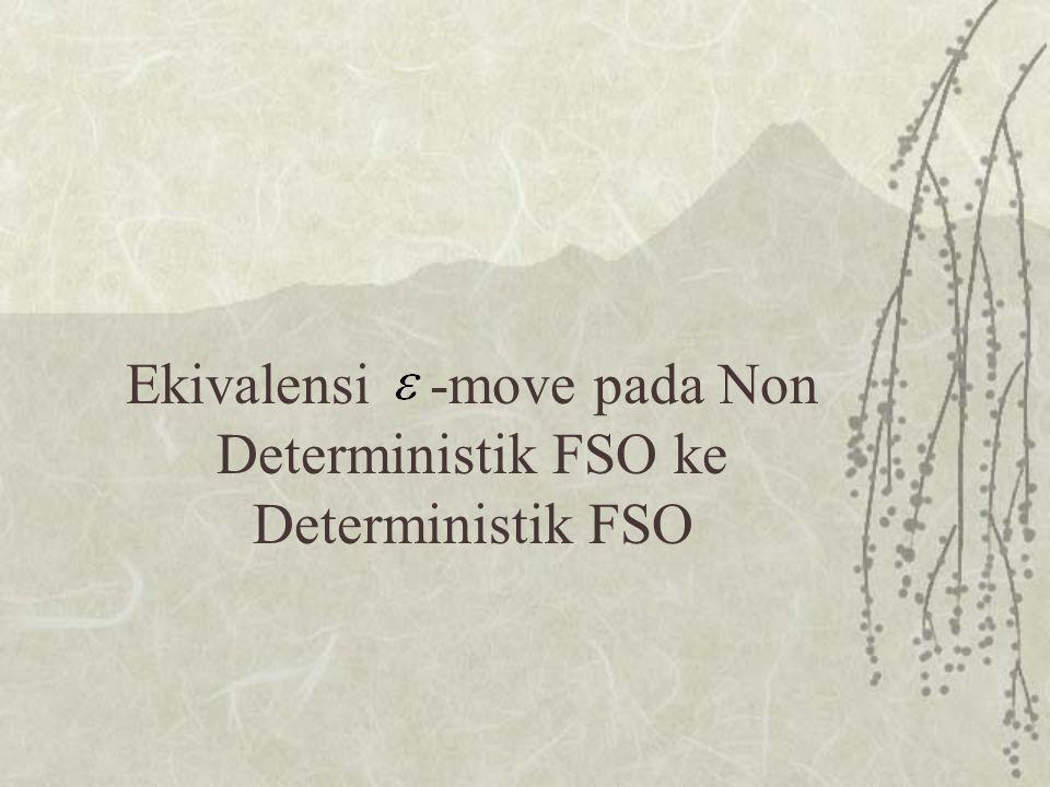 Ekivalensi -move pada Non Deterministik FSO ke Deterministik FSO
