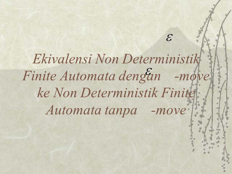  Buat tabel transisi non deterministik finite automata semula.