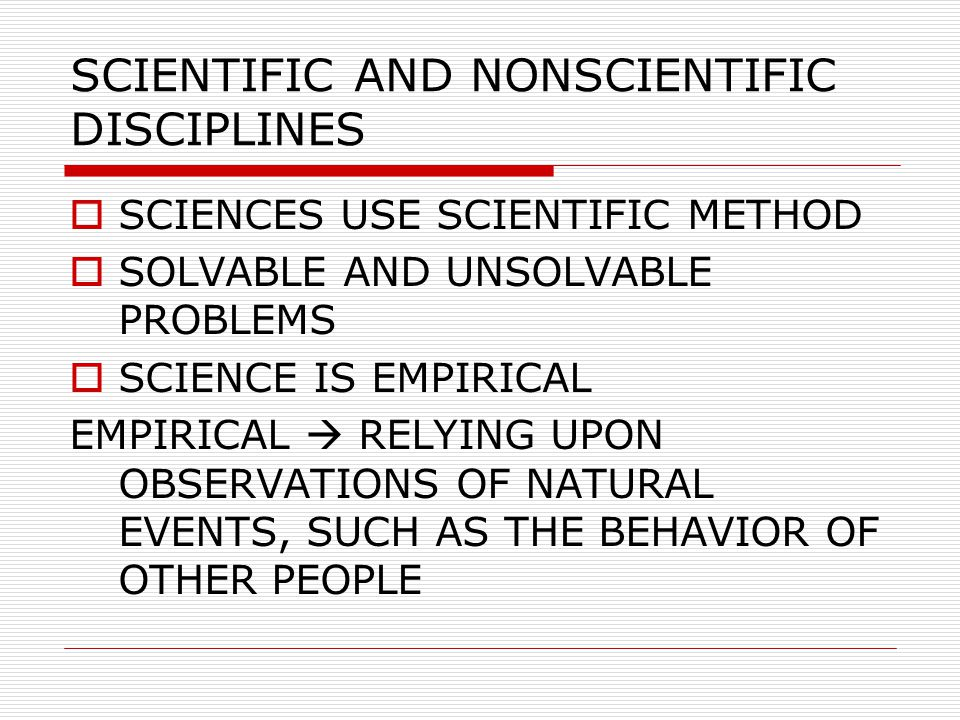 DEFINITION OF SCIENCE  CONTENT DEFINITION SCIENCE IS AN ACCUMULATION OF INTEGRATED KNOWLEDGE  PROCESS DEFINITION SCIENCE IS AN ACTIVITY OF DISCOVERING IMPORTANT VARIABLES IN NATURE, OF RELATING THOSE VARIABLES, AND OF EXPLAINING THOSE RELATIONSHIPS (LAWS)  CLASSICAL DEFINITION SCIENCE IS AN INTERCONNECTED SERIES OF CONCEPTS AND CONCEPTUAL SCHEMES THAT HAVE DEVELOPED AS A RESULT OF EXPERIMENTATION AND OBSERVATIONS (CONAN, 1951; DALAM McGUIGAN, 1993)