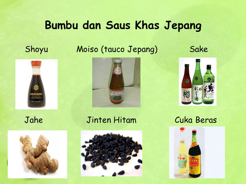 Bumbu dan Saus Khas Jepang Shoyu Moiso (tauco Jepang) Sake Jahe Jinten Hitam Cuka Beras