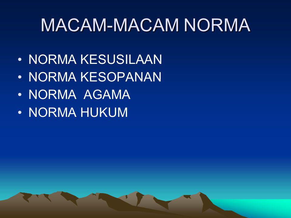 PENGERTIAN NORMA Norma berasal dari bahasa latin yakni norma, yang berarti penyikut atau siku-siku, suatu alat perkakas yang digunakan oleh tukang kay