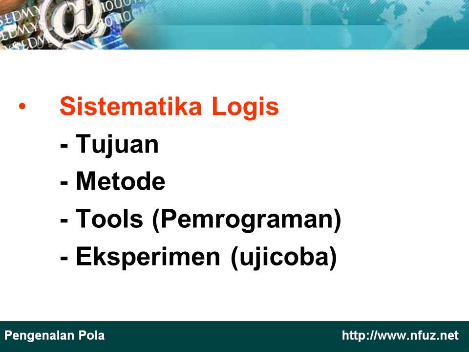 Sistematika Logis - Tujuan - Metode - Tools (Pemrograman) - Eksperimen (ujicoba)