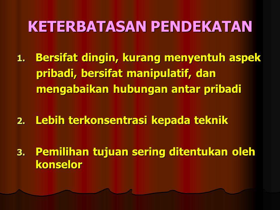 KETERBATASAN PENDEKATAN 1.