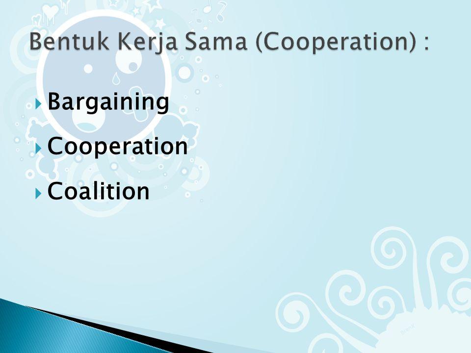  Bargaining  Cooperation  Coalition