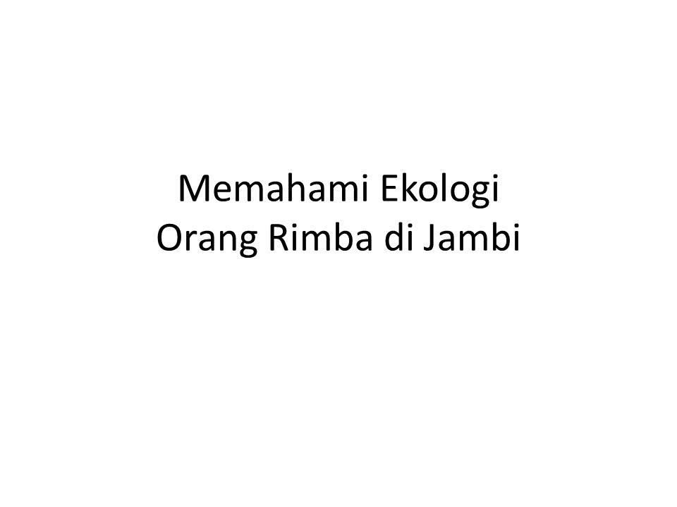 Memahami Ekologi Orang Rimba di Jambi