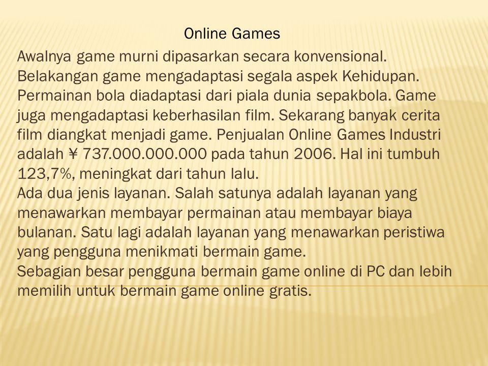 Awalnya game murni dipasarkan secara konvensional.