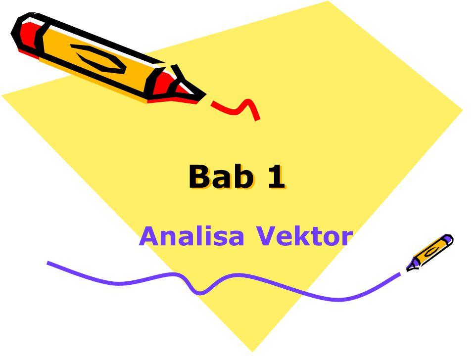 Notasi Vektor  Vektor A dapat dituliskan dalam bentuk komponen-komponen vektor satuan sebagai A = A x a x + A y a y + A z a z  Dalam bentuk komponen-komponennya, magnituda vektor A didefinisikan sebagai |A| =A=  Vektor satuan sepanjang arah A diberikan oleh