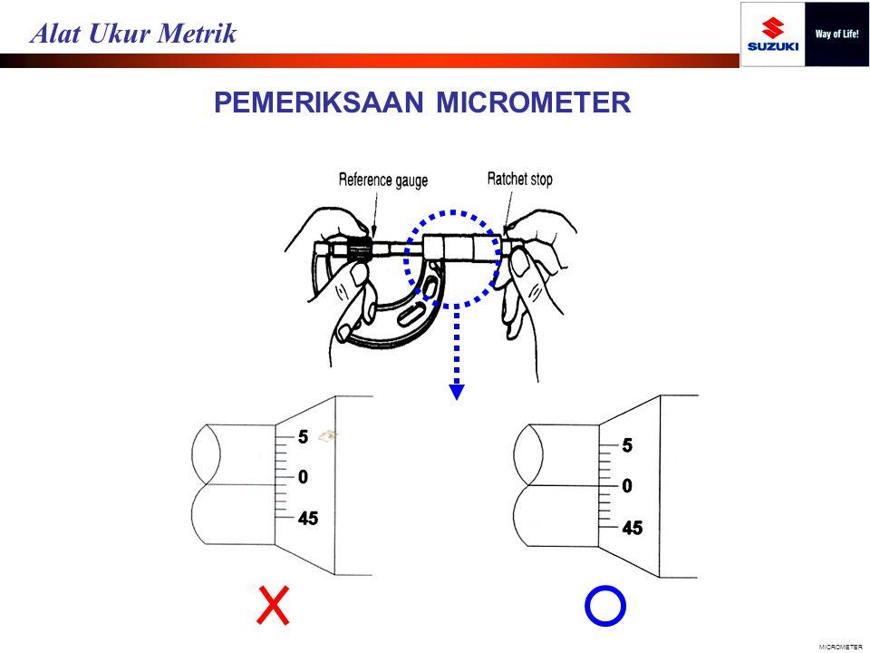 PEMERIKSAAN MICROMETER MICROMETER Alat Ukur Metrik