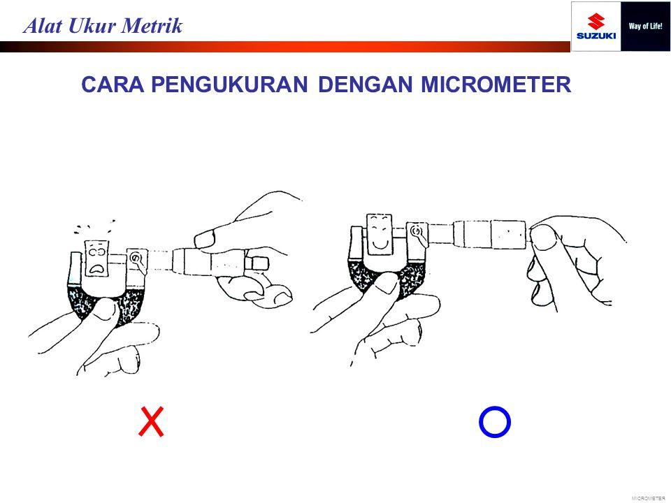 CARA PENGUKURAN DENGAN MICROMETER MICROMETER Alat Ukur Metrik