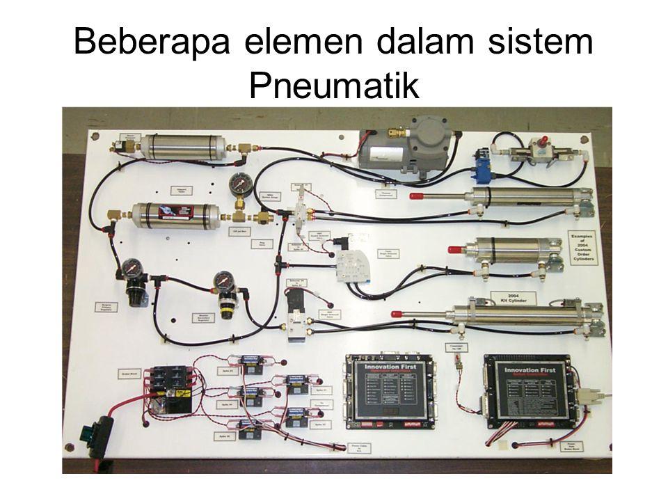 Beberapa elemen dalam sistem Pneumatik