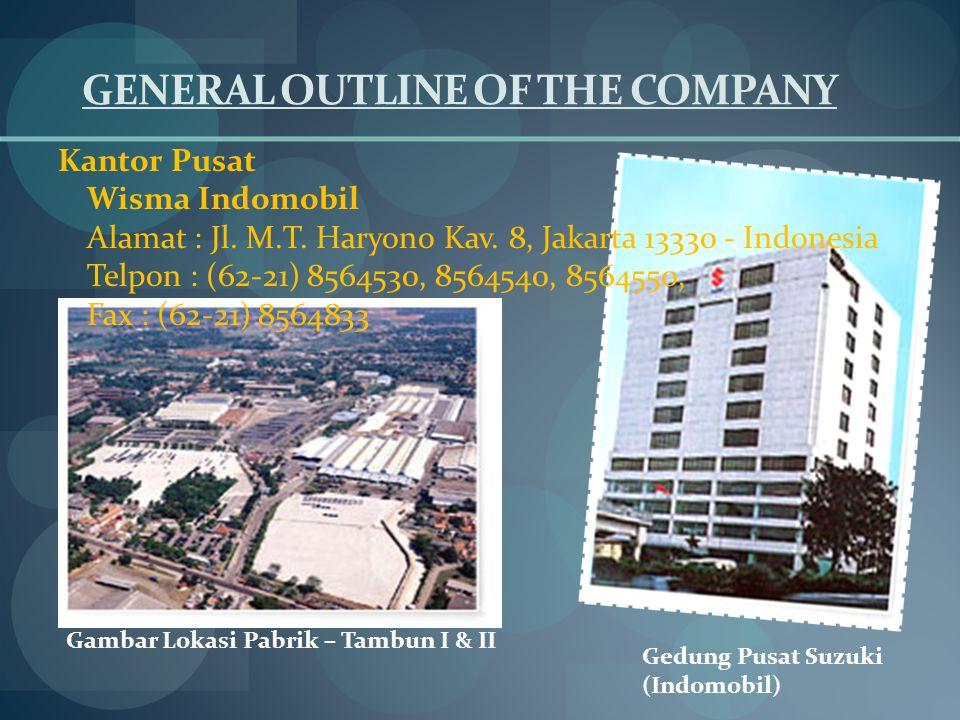 GENERAL OUTLINE OF THE COMPANY Kantor Pusat Wisma Indomobil Alamat : Jl.