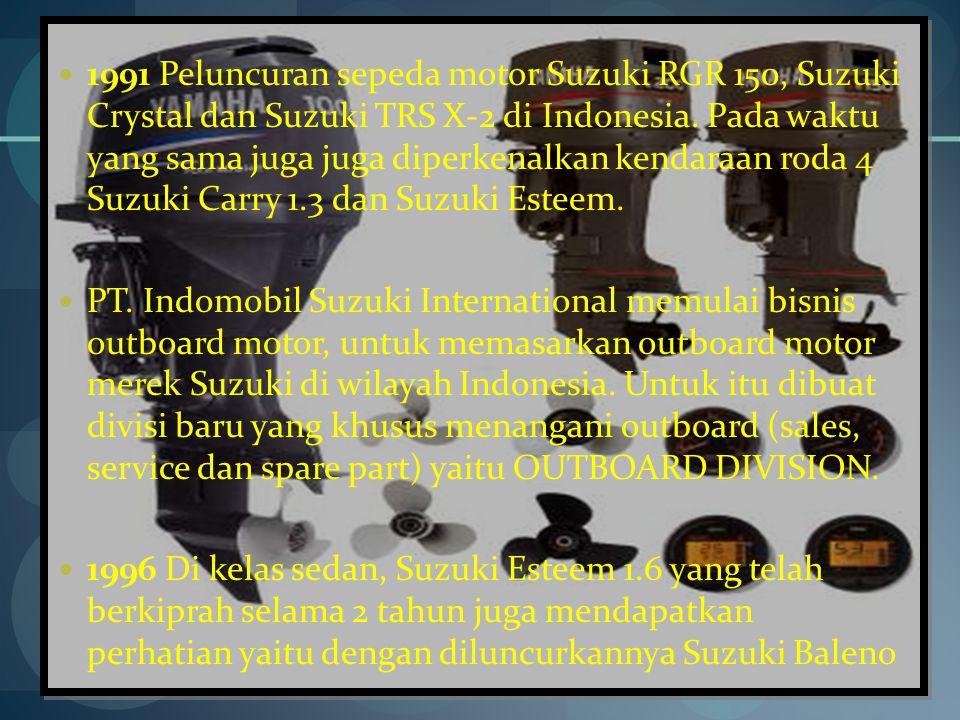 1991 Peluncuran sepeda motor Suzuki RGR 150, Suzuki Crystal dan Suzuki TRS X-2 di Indonesia.