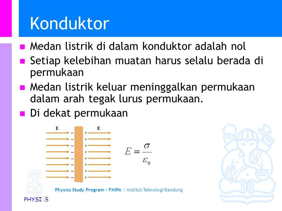 Physics Study Program - FMIPA | Institut Teknologi Bandung PHYSI S Contoh aplikasi medan listrik