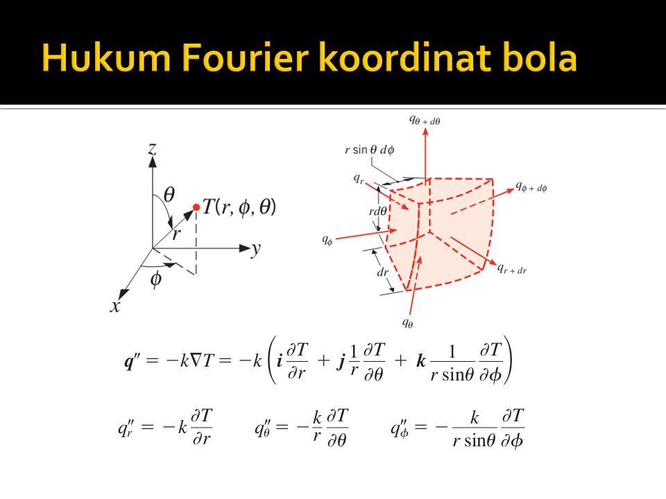 Jika konduksi hanya 1D pada arah r maka: Untuk mencari persamaan distribusi temperatur