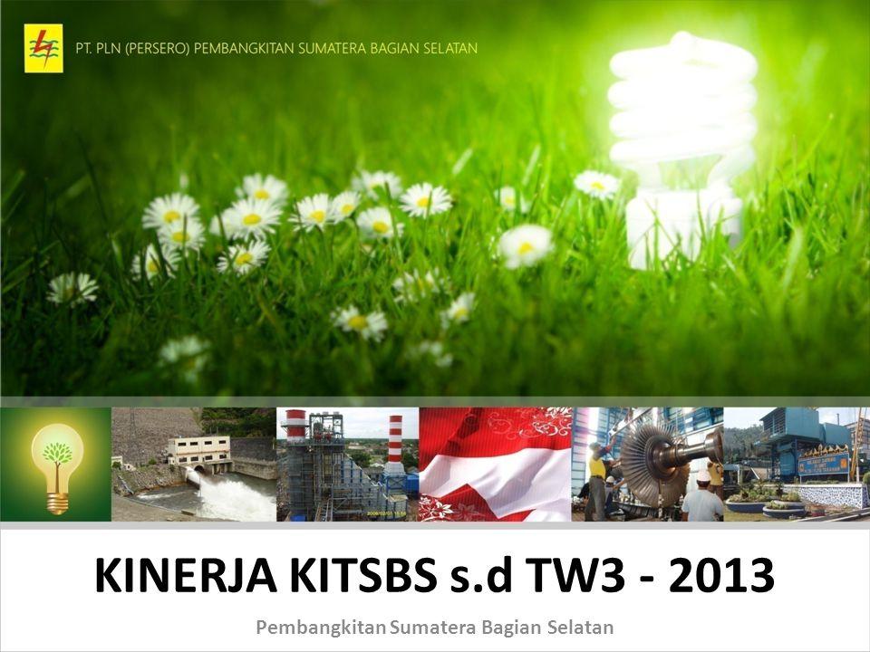 KINERJA KITSBS s.d TW3 - 2013 Pembangkitan Sumatera Bagian Selatan