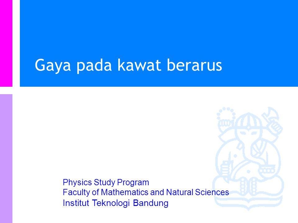 Physics Study Program - FMIPA   Institut Teknologi Bandung PHYSI S Contoh soal ….