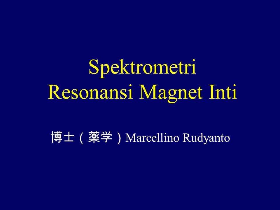 Spektrometri Resonansi Magnet Inti 博士(薬学) Marcellino Rudyanto