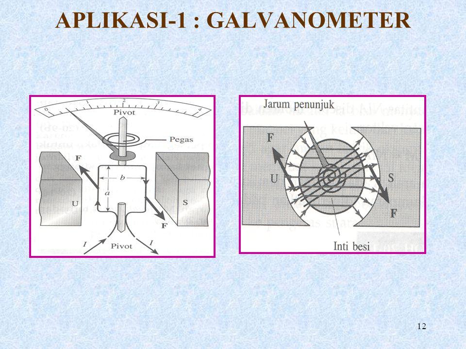12 APLIKASI-1 : GALVANOMETER