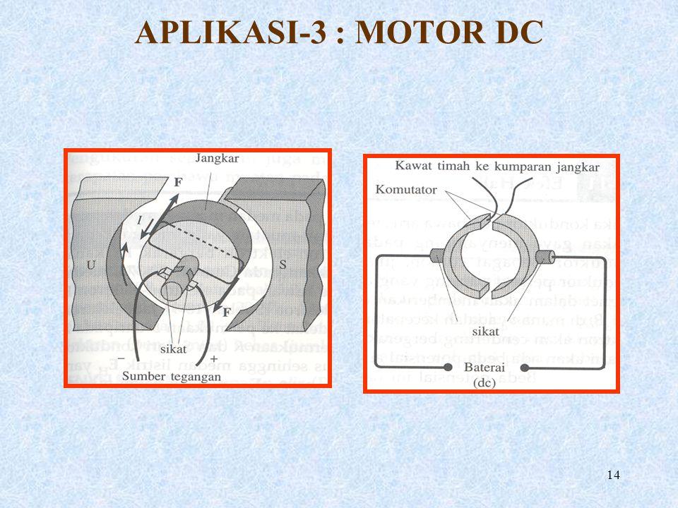 14 APLIKASI-3 : MOTOR DC