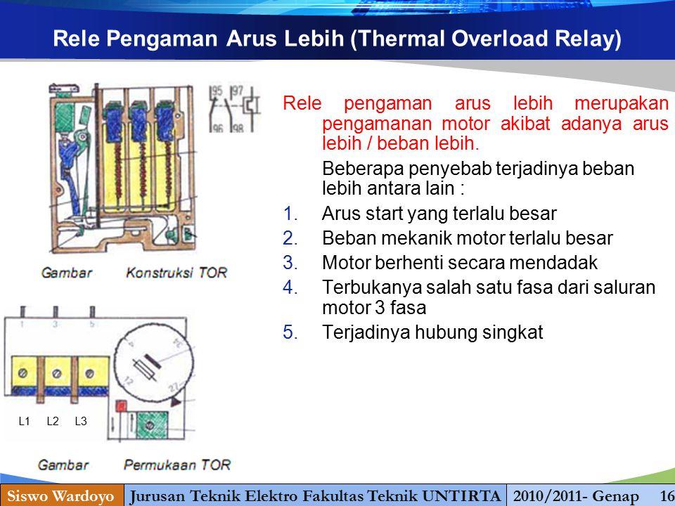 www.themegallery.com Rele Pengaman Arus Lebih (Thermal Overload Relay) Rele pengaman arus lebih merupakan pengamanan motor akibat adanya arus lebih /