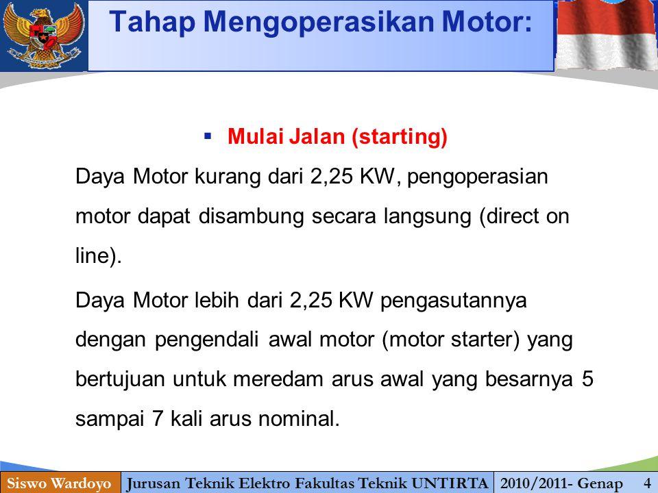 www.themegallery.com Starting  Mulai Jalan (starting) Daya Motor kurang dari 2,25 KW, pengoperasian motor dapat disambung secara langsung (direct on