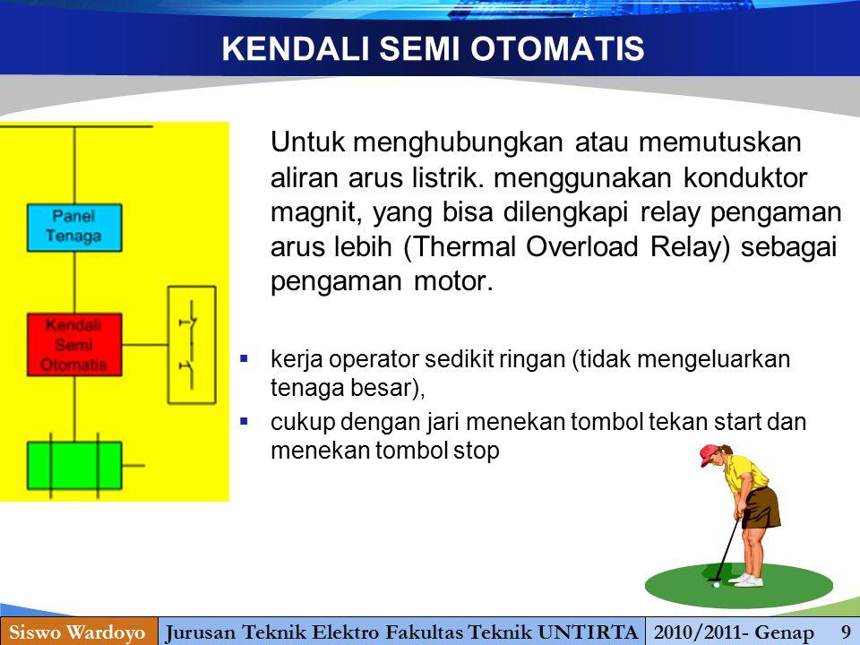 www.themegallery.com KENDALI OTOMATIS Otomatis : dibuat dengan suatu program dalam bentuk rangkaian konduktor magnit yang dikendalikan oleh sensor- sensor, sehingga motor dapat bekerja maupun berhenti secara otomatis.