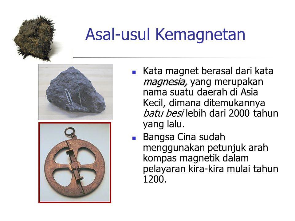 Magnet dapat menarik benda-benda dari bahan tertentu