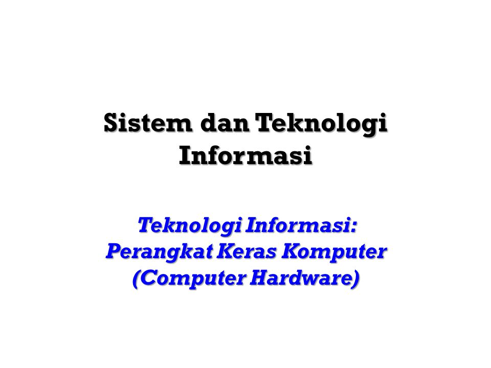 Sistem dan Teknologi InformasiTeknik Informatika 201421 TEKNOLOGI INPUT (1) KEYPUNCH Perangkat input yang digunakan pada saat permulaan komputer.