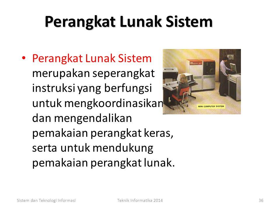 Sistem dan Teknologi InformasiTeknik Informatika 201435 TIPE Perangkat Lunak TIPE Perangkat Lunak