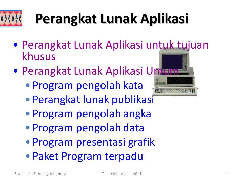 Perangkat Lunak Aplikasi Paket perangkat lunak (paket software) adalah perangkat program yang terlebih dahulu ditulis dan terkoding, siap digunakan da
