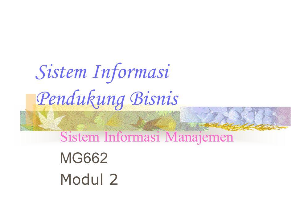 Sistem Informasi Pendukung Bisnis Sistem Informasi Manajemen MG662 Modul 2