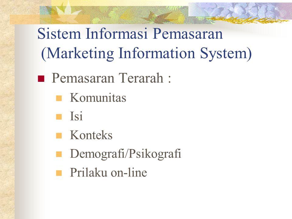 Pemasaran Terarah : Komunitas Isi Konteks Demografi/Psikografi Prilaku on-line