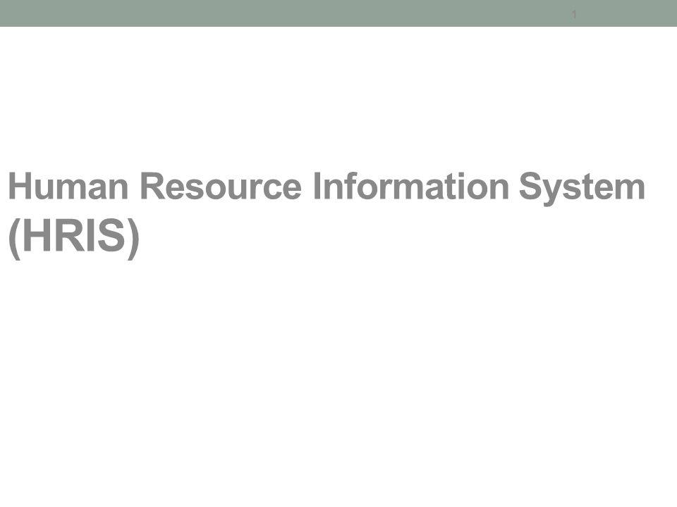 1 Human Resource Information System (HRIS)