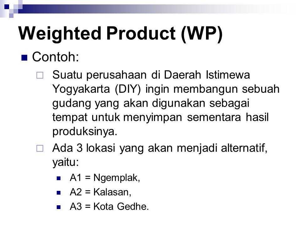 Contoh:  Suatu perusahaan di Daerah Istimewa Yogyakarta (DIY) ingin membangun sebuah gudang yang akan digunakan sebagai tempat untuk menyimpan sement