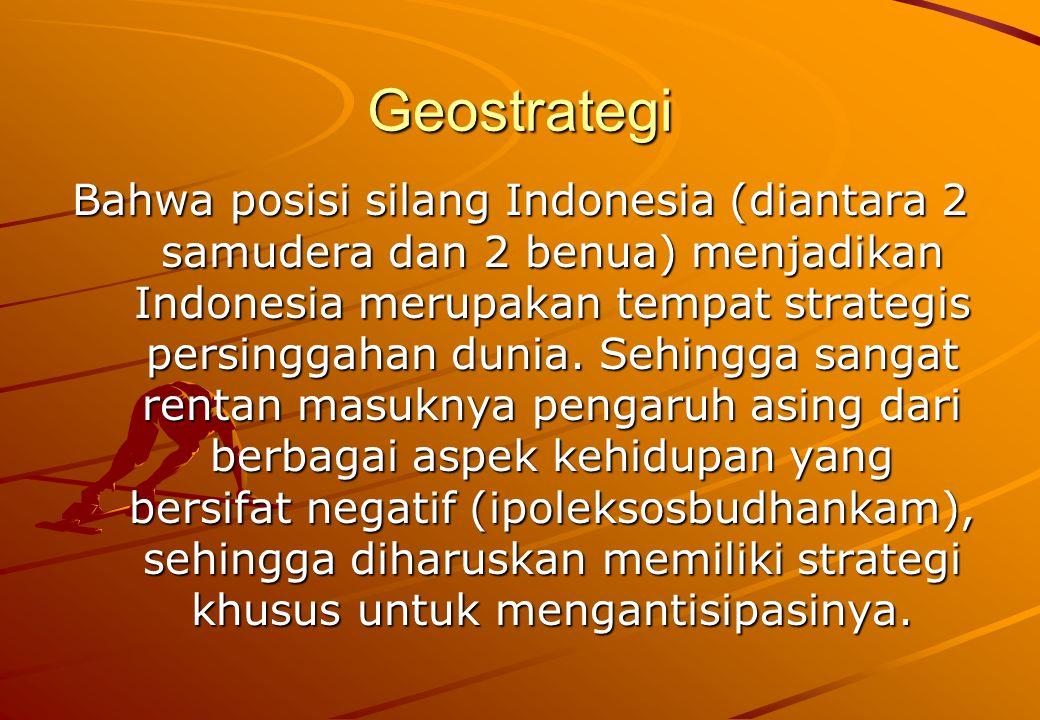 Latar belakang Wanus Historis dan yuridis formal  Gagasan Wanus berpangkal tolak dari kosepsi negara kepulauan Archipelagic state concept), dimana konsepsi tersebut mula-mula dikemukakan pada Deklarasi Djuanda 13 Desember 1957, yang menyatakan: 1.Bentuk geografi Indonesia sebagai suatu negara kepulauan mempunyai sifat dan corak tersendiri.