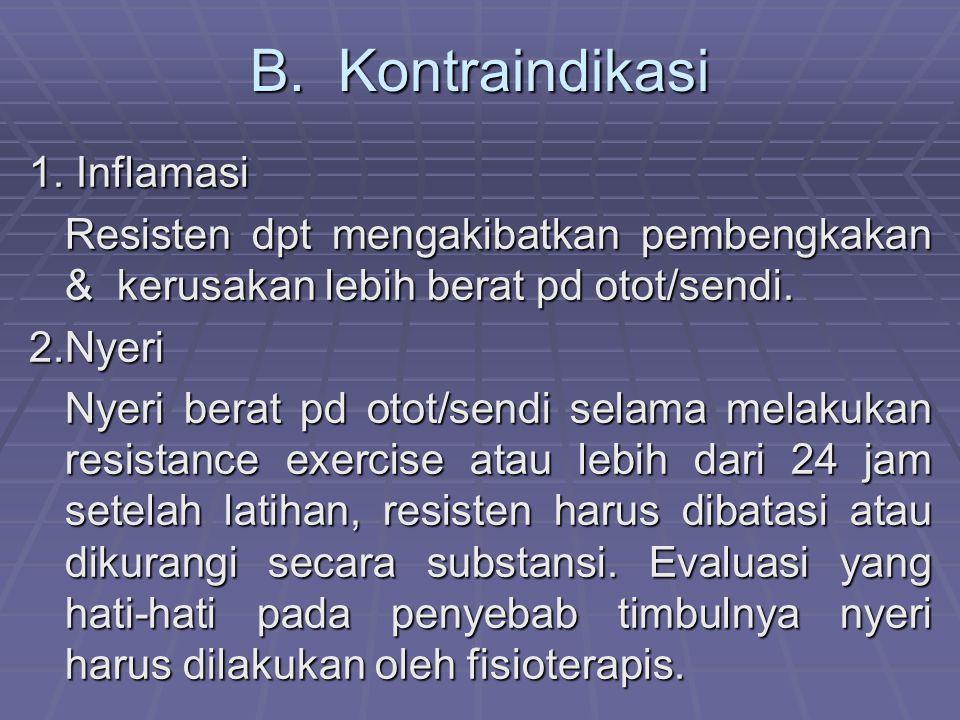 B.Kontraindikasi 1.