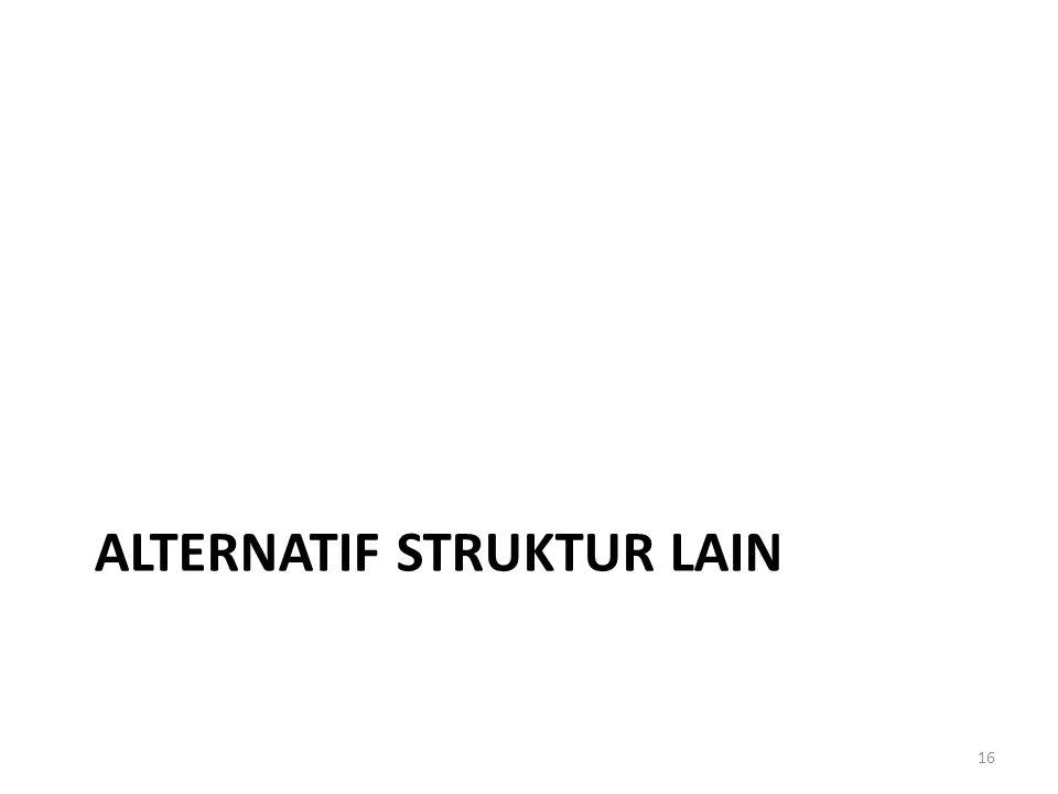 ALTERNATIF STRUKTUR LAIN 16