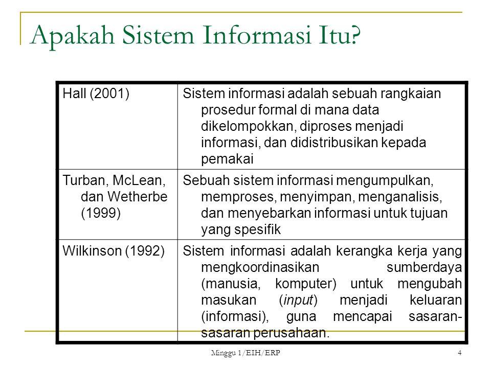 Minggu 1/EIH/ERP 5 Apakah Sistem Informasi Itu?