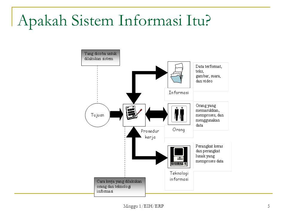 Minggu 1/EIH/ERP 5 Apakah Sistem Informasi Itu