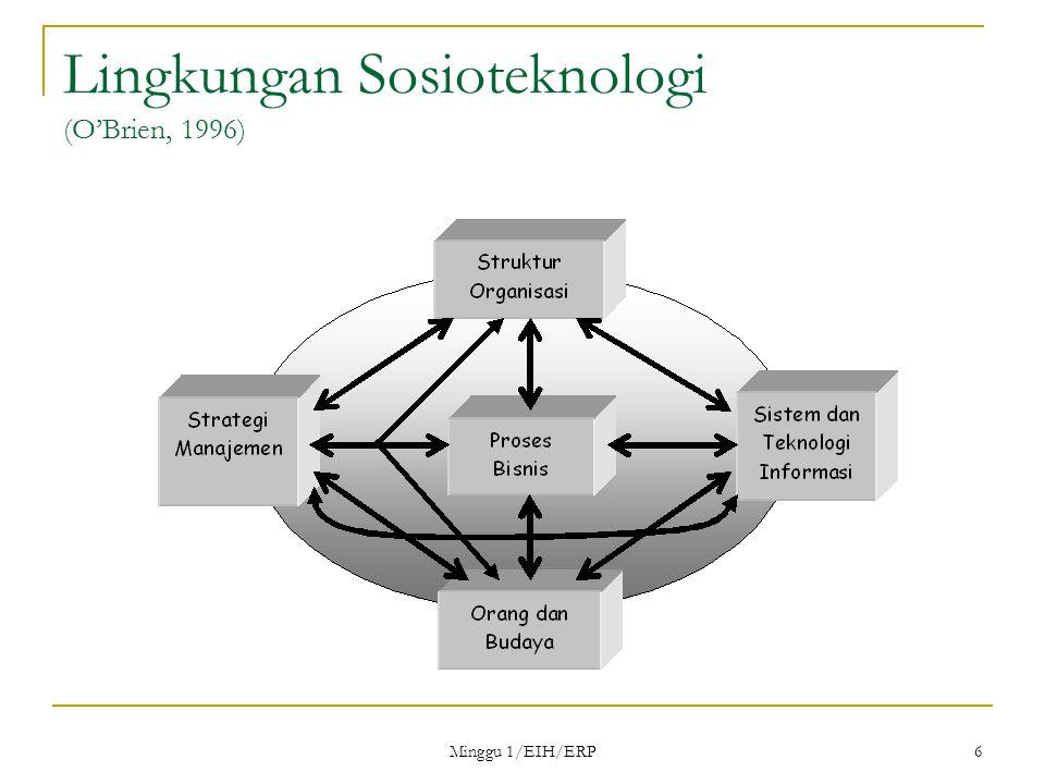 Minggu 1/EIH/ERP 6 Lingkungan Sosioteknologi (O'Brien, 1996)